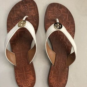 Tory Burch Thora White Leather Sandal